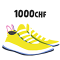 Icon with sneakers and price tag
